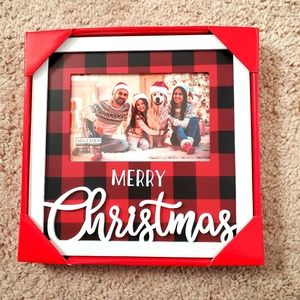 NWT Merry Christmas Plaid Picture Frame